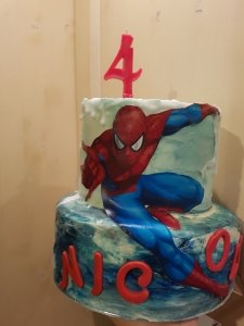 Torta Supereroe tema Spiderman